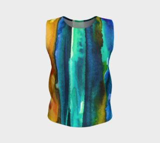 Watercolor Fashion Loose Tank aperçu
