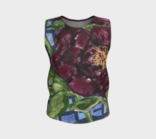 Burgundy Peony Loose Tank preview