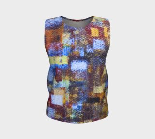 Abstract Mosaic Blue Loose Tank preview