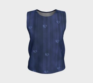 Navy Blue Hearts Flowy Tank Top preview