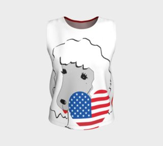 two toned patriotic poodle tank preview