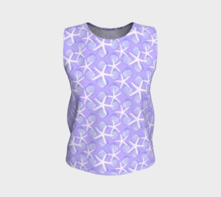 White Starfish with Purple Scallop Shells on Purple preview