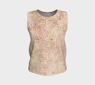 Iced coffee and white swirls doodles Loose Tank Top aperçu