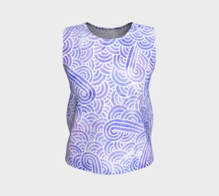Lavender and white swirls doodles Loose Tank Top aperçu