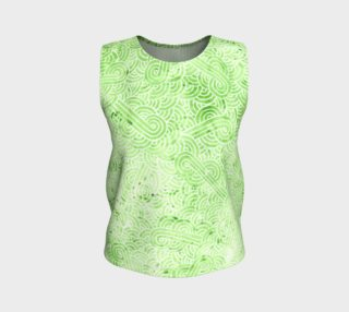 Greenery and white swirls doodles Loose Tank Top preview