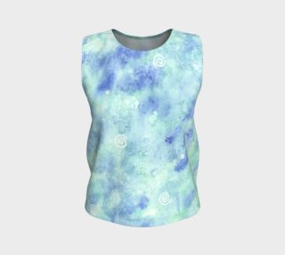 Blue lagoon Loose Tank Top preview