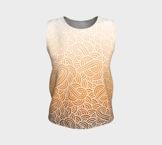 Ombre orange and white swirls doodles Loose Tank Top preview