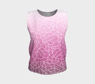 Ombre pink and white swirls doodles Loose Tank Top preview