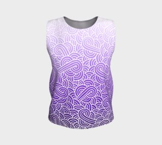 Ombre purple and white swirls doodles Loose Tank Top preview
