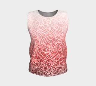 Ombre red and white swirls doodles Loose Tank Top aperçu