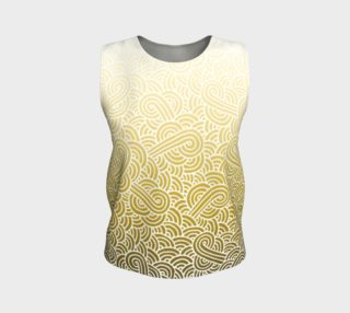 Ombre yellow and white swirls doodles Loose Tank Top preview