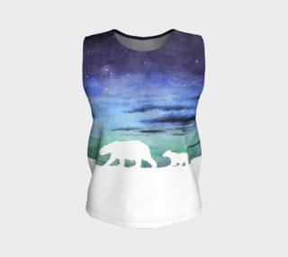 Aurora borealis and polar bears (white version) Loose Tank Top aperçu