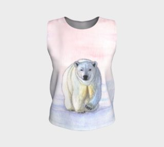 Polar bear in the icy dawn Loose Tank Top aperçu