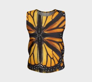 Monarch Butterfly Asymmetrical Loose Tank Top preview