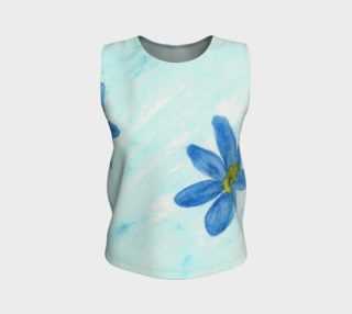 Simply Blue Flowers Tank Top preview