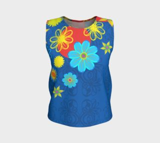 Blue Floral Loose Tank preview