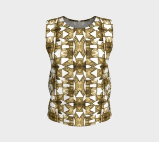 Coffee Mosaic Loose Tank Top preview