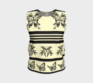 BKC Black Butterfly Loose Fitting Tank Top 2 preview