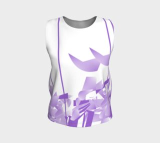 Purple Lines of Passion Fitted Tank Top aperçu