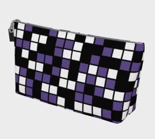 Ultra Violet Purple, Black, and White Random Mosaic Squares preview