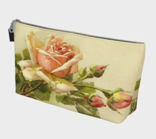 Peachy Pink Rose Catherine Klein  Makeup Bag preview