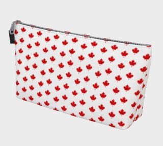 Red Maple Leaf Pattern from Flag of Canada Makeup Bag preview