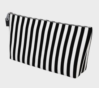 Half Inch Black and White Vertical Stripes preview