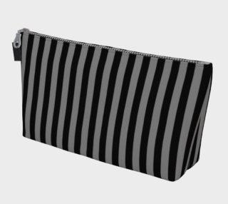 Aperçu de Half Inch Black and Medium Grey Vertical Stripes