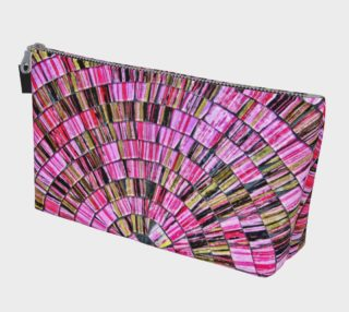 Bali Tile Art In Pink Make Up Bag aperçu
