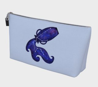 Astrological sign Aquarius constellation Makeup Bag aperçu