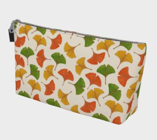 Fall ginkgo biloba leaves pattern Makeup Bag aperçu