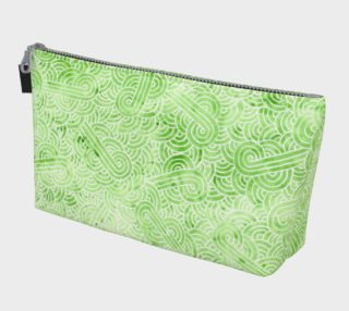 Greenery and white swirls doodles Makeup Bag preview
