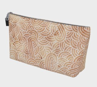 Iced coffee and white swirls doodles Makeup Bag aperçu