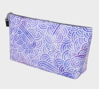 Lavender and white swirls doodles Makeup Bag aperçu