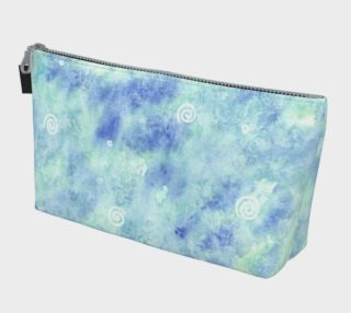 Blue lagoon watercolor Makeup Bag aperçu