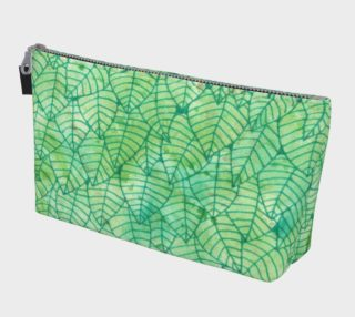 Green foliage watercolor Makeup Bag aperçu