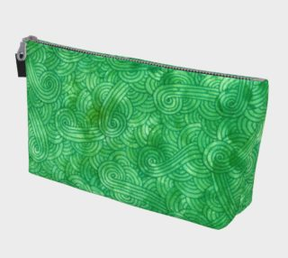 Bright green swirls doodles Makeup Bag aperçu