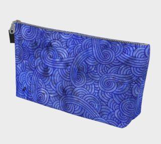 Royal blue swirls doodles Makeup Bag aperçu