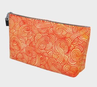 Orange and red swirls doodles Makeup Bag preview