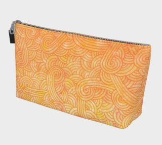 Yellow and orange swirls doodles Makeup Bag preview