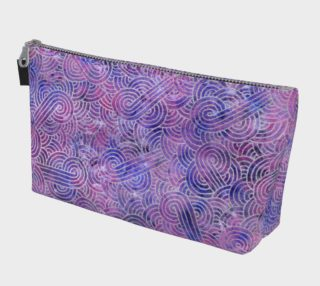 Purple and faux silver swirls doodles Makeup Bag preview