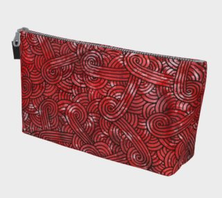 Red and black swirls doodles Makeup Bag preview
