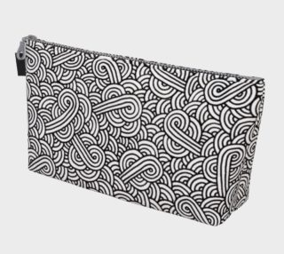 Black and white swirls doodles Makeup Bag preview