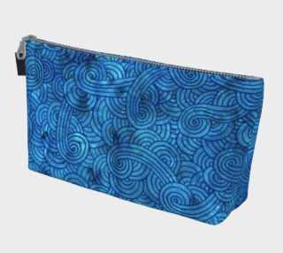 Turquoise blue swirls doodles Makeup Bag preview