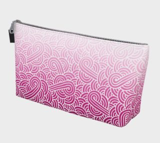 Ombré pink and white swirls doodles Makeup Bag preview