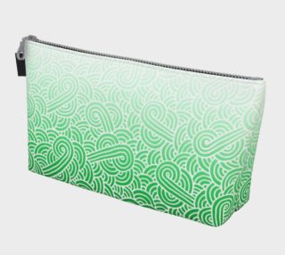 Ombré green and white swirls doodles Makeup Bag preview