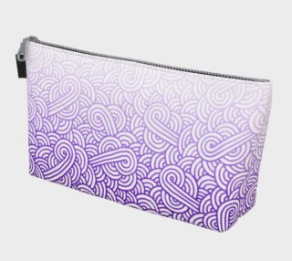Gradient purple and white swirls doodles Makeup Bag preview