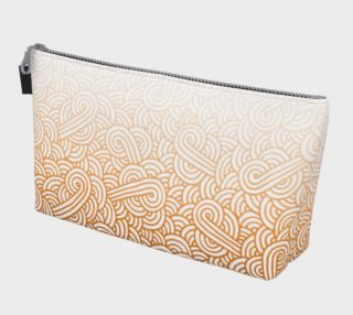 Gradient orange and white swirls doodles Makeup Bag preview