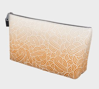 Ombré orange and white swirls doodles Makeup Bag preview