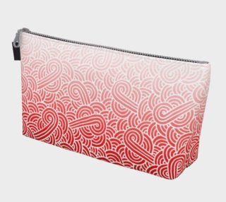 Ombré red and white swirls doodles Makeup Bag preview